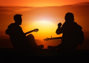 person-human-guitar-players